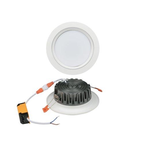 ULM-Q235 15W-NW WHITE Светильник светодиодный встраиваемый. Белый свет. Корпус белый с серебристой полосой. ТМ Volpe.