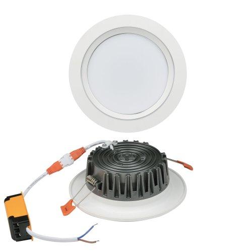 ULM-Q235 24W-DW WHITE Светильник светодиодный встраиваемый. Дневной свет. Корпус белый с серебристой полосой. ТМ Volpe.