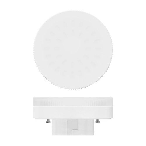 LED-GX53-6W-WW-GX53-FR PLZ01WH Лампа светодиодная. матовая. Теплый белый свет. Картон. ТМ Uniel.