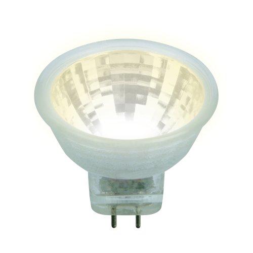 LED-MR11-3W-WW-GU4-220V GLZ21TR  Лампа светодиодная. 220V. Прозрачная. Теплый белый свет 3000K. Картон. ТМ Uniel.
