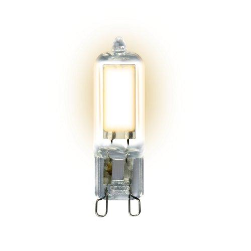 LED-JCD-4W-WW-G9-CL GLZ01TR Лампа светодиодная. прозрачная. Теплый белый свет 3000К. Картон. ТМ Uniel
