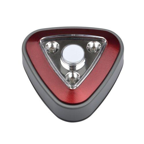 DTL-356 Треугольник-Red-3LED-4AA Cветильник-ночник пушлайт. питание от 3-х батареек AAA в комплект не входят. Красный. ТМ Uniel