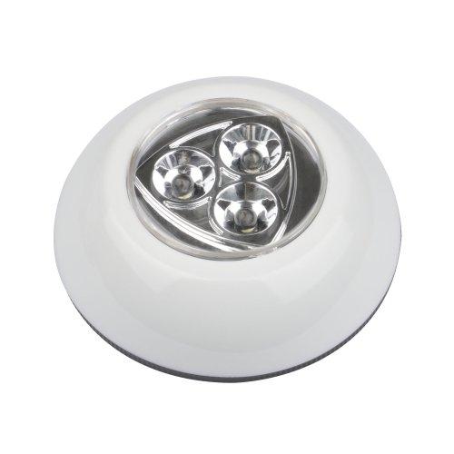 DTL-360 Круг-White-3LED-3АAA Cветильник-ночник пушлайт. питание от 3-х батареек AAA в комплект не входят. Белый. ТМ Uniel