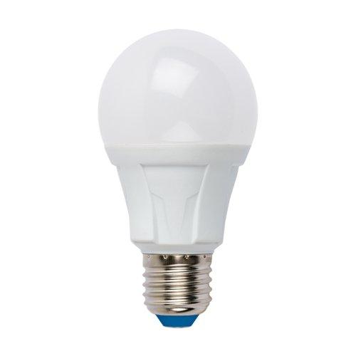 LED-A60 8W-DW-E27-FR PLP01WH Лампа светодиодная. Форма А. матовая. Серия Яркая. Дневной свет 6500K. Картон. ТМ Uniel