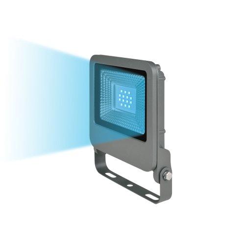 ULF-F17-10W-BLUE IP65 195-240В SILVER Прожектор светодиодный. Синий свет. Корпус серебристый. TM Uniel.