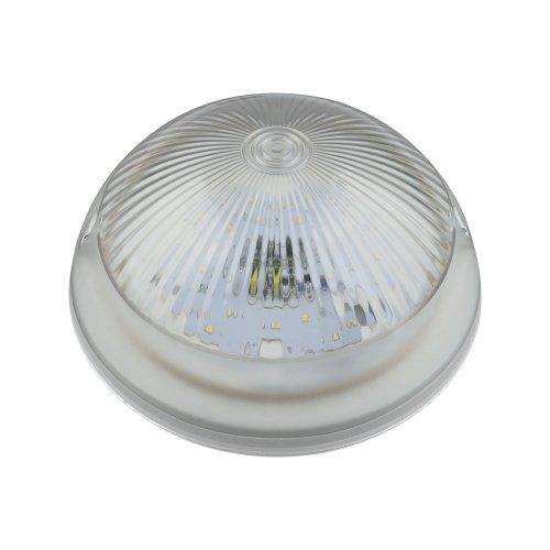 ULW-R05 12W-DW IP64 WHITE Светильник светодиодный влагозащищенный. Круг. 12Вт. 1200 Лм. Дневной свет 6500K. 220В. Диаметр 21 см. Белый. ТМ Uniel