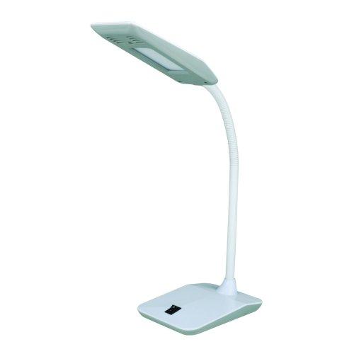 TLD-545 Black-White-LED-350Lm-3500K Светильник настольный. 4W. Механический выключатель. Черный с белым. ТМ Uniel