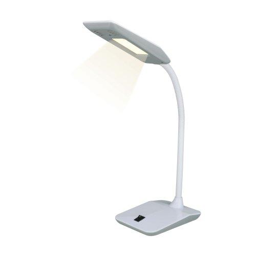 TLD-545 Grey-White-LED-350Lm-3500K Светильник настольный. 4W. Механический выключатель. Серый с белым. ТМ Uniel