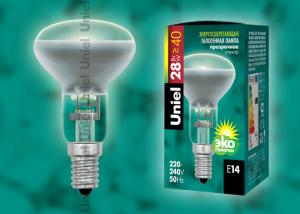 HCL-28-CL-E14 Лампа галогенная рефлектор R50. Картонная коробка