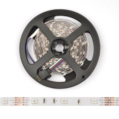 ULS-Q911 5050-30LED-m-8mm-IP20-DC12V-7.2W-m-5M-RGB Гибкая светодиодная лента на самоклеящейся основе. Катушка 5 м. в герметичной упаковке. Мультиколор. ТМ Volpe.