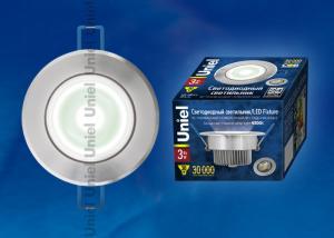 ULM-R31-3W-NW IP20 Silver картон Светильник светодиодный встраиваемый поворотный. 110-240В. Материал корпуса алюминий. цвет блестящее серебро. Белый свет.
