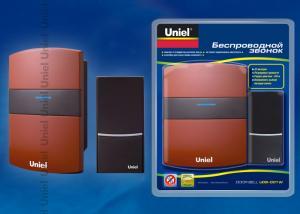 UDB-001W-R1T1-32S-100M-RD Звонок беспроводной. Блистерная упаковка