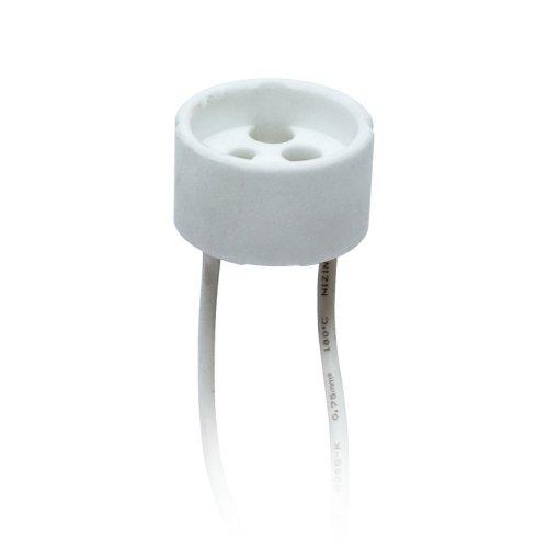 ULH-GU10-Ceramic-15cm Патрон керамический для лампы на цоколе GU10