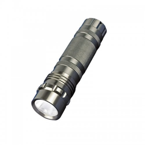 S-LD023-C Silver Фонарь Uniel серии Стандарт Classics element – Secure Light. алюминиевый корпус. 0.5 Watt Led. упаковка кламшелл. 3хААА н-к. цвет – серебро