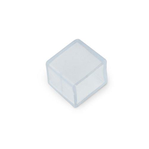 UCW-K10 CLEAR 025 POLYBAG Изолирующий зажим заглушка для светодиодной ленты 220В. 10x7мм. цвет прозрачный. 25 штук в пакете. TM Uniel.
