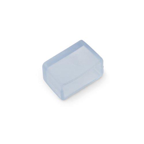 UCW-K14-CLEAR 025 POLYBAG Изолирующий зажим заглушка для светодиодной ленты 220В. 14-16х7мм. цвет прозрачный. 25 штук в пакете. TM Uniel.