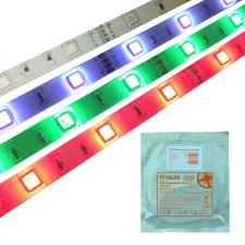 ULS-Q214 5050-30LED-m-10mm-IP65-DC12V-7.2W-m-5M-RGB Гибкая светодиодная герметичная лента на самоклеящейся основе. Катушка 5 м. в герметичной упаковке. Мультиколор. ТМ Volpe
