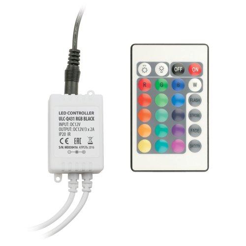ULC-Q431 RGB BLACK Контроллер для управления светодиодными RGB лентами 12V. с пультом ДУ ИК. ТМ Volpe.