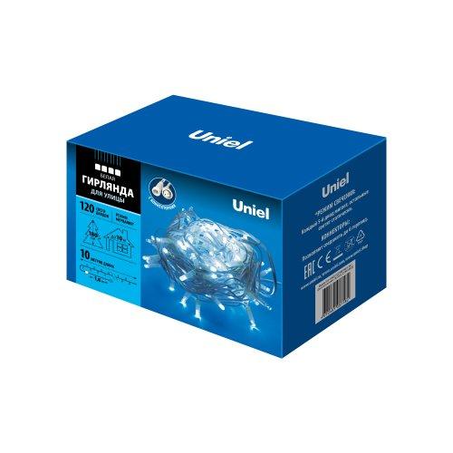 ULD-S1000-120-TWK WHITE IP67 Гирлянда светодиодная с эффектом мерцания. 10м. Соединяемая. 120 светодиодов. Белый свет. Провод белый. TM Uniel.
