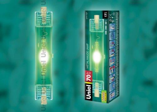 MH-DE-70-GREEN-R7s Лампа металогалогенная линейная. Цвет зеленый. Картонная упаковка