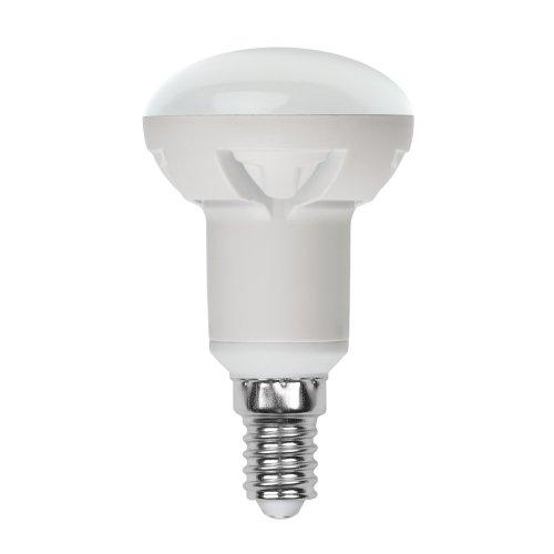LED-R50-6W-WW-E14-FR-DIM PLP01WH Лампа светодиодная диммируемая. Форма рефлектор. матовая. Серия Palazzo. Теплый белый свет. Картон. ТМ Uniel.
