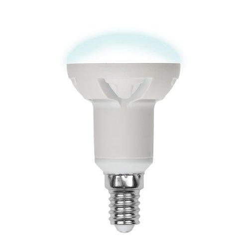 LED-R50-6W-NW-E14-FR PLP01WH Лампа светодиодная. Форма рефлектор. матовая. Серия Palazzo. Белый свет. Картон. ТМ Uniel.