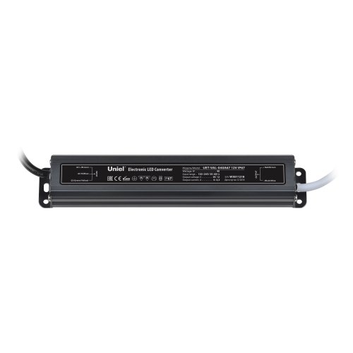 UET-VAL-040A67 Блок питания для светодиодов с защитой от короткого замыкания и перегрузок. алюминиевый корпус. 40Вт. 12В. IP67