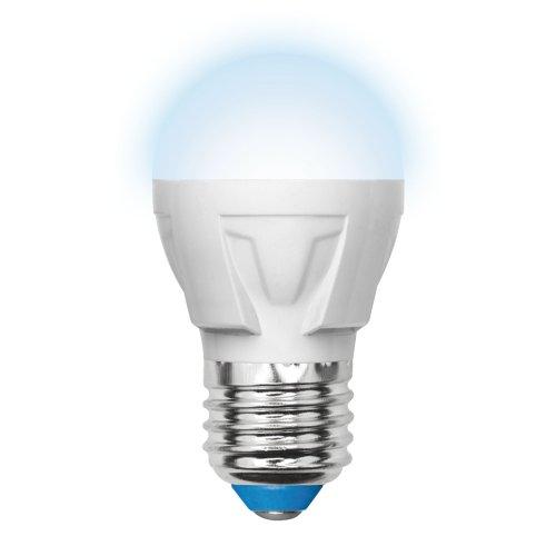 LED-G45-7W-NW-E27-FR PLP01WH Лампа светодиодная. Форма шар. матовая. Серия Palazzo. Белый свет. Картон. ТМ Uniel.