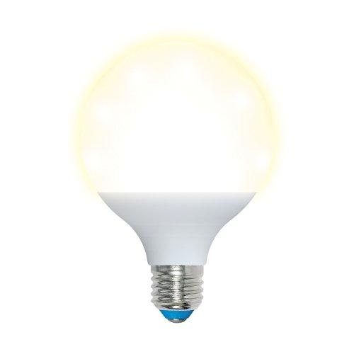 LED-G95-16W-WW-E27-FR PLP02WH Лампа светодиодная. Форма шар. матовая. Серия Palazzo. Теплый белый свет. Картон. ТМ Uniel