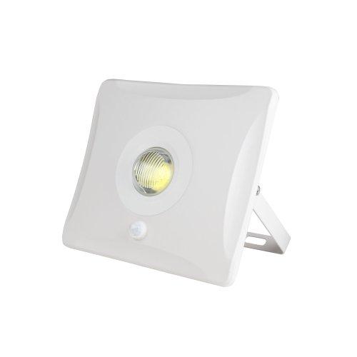 ULF-F31-10W-DW SENSOR IP65 100-265В WHITE Прожектор светодиодный с датчиком движения. Дневной белый. Корпус белый. Упаковка картон. TM Uniel.