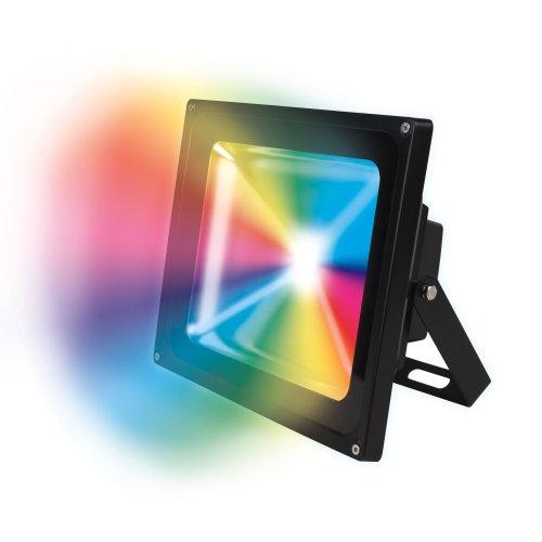 ULF-S01-20W-RGB-RC IP65 110-240В Прожектор светодиодный с пультом ДУ. Мультиколор. Корпус серый. Упаковка картон. TM Uniel.