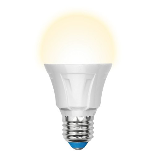 LED-A60-11W-WW-E27-FR-DIM PLP01WH Лампа светодиодная диммируемая. Форма A. матовая. Серия Palazzo. Теплый белый свет. Картон. ТМ Uniel.