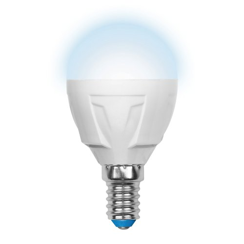 LED-G45-6W-NW-E14-FR-DIM PLP01WH Лампа светодиодная диммируемая. Форма шар. матовая. Серия Palazzo. Белый свет. Картон. ТМ Uniel.