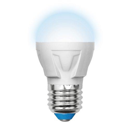 LED-G45-6W-NW-E27-FR-DIM PLP01WH Лампа светодиодная диммируемая. Форма шар. матовая. Серия Palazzo. Белый свет. Картон. ТМ Uniel.