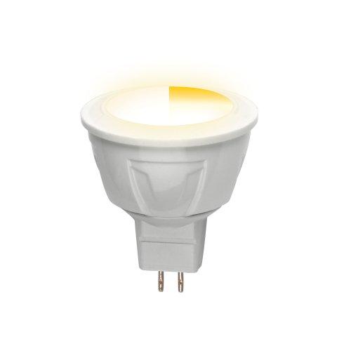 LED-JCDR-5W-WW-GU5.3-FR-DIM PLP01WH Лампа светодиодная диммируемая. Серия Palazzo. Теплый белый свет. Картон. ТМ Uniel.