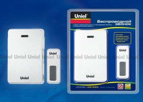 UDB-005W-R1T1-32S-100M-WH Звонок беспроводной. Блистерная упаковка. Цвет белый