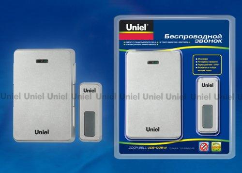UDB-005W-R1T1-32S-100M-LS Звонок беспроводной. Блистерная упаковка. Цвет светлое серебро