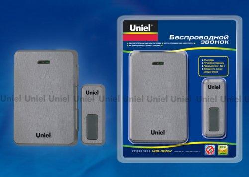 UDB-005W-R1T1-32S-100M-DS Звонок беспроводной. Блистерная упаковка. Цвет темное серебро