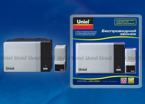 UDB-006W-R1T1-32S-100M-SL Звонок беспроводной. Блистерная упаковка. Цвет серебристый