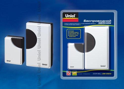 UDB-002W-R1T1-32S-100M-WH Звонок беспроводной. Блистерная упаковка. Цвет белый