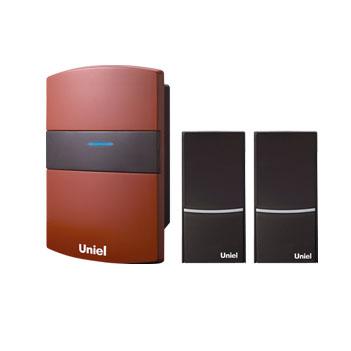 UDB-004W-R1T2-32S-100M-RD Звонок беспроводной. Блистерная упаковка. Цвет красный