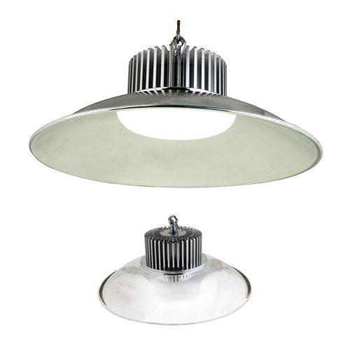 ULY-Q721 90W-NW-D IP20 SILVER Светильник светодиодный промышленный с облегченным корпусом c отражателем. Цвет свечения белый. Цвет корпуса серебряный. ТМ Volpe.