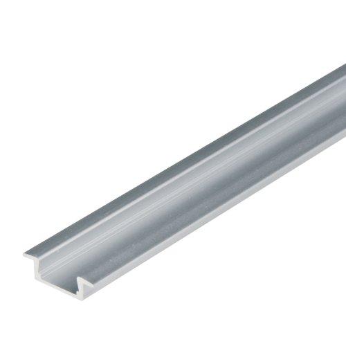 UFE-A01 SILVER 200 POLYBAG Врезной профиль для светодиодной ленты. анодированный алюминий. Длина 200 см. ТМ Uniel.