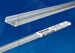 UFE-A02 SILVER 200 POLYBAG Накладной профиль для светодиодной ленты. анодированный алюминий. Длина 200 см. ТМ Uniel.