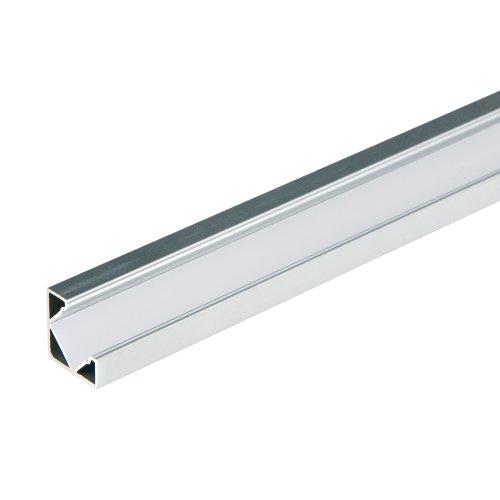 UFE-A03 SILVER 200 POLYBAG Накладной профиль для светодиодной ленты. анодированный алюминий. Длина 200 см. ТМ Uniel.