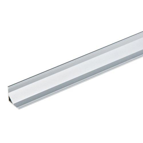 UFE-A05 SILVER 200 POLYBAG Накладной профиль для светодиодной ленты. анодированный алюминий. Длина 200 см. ТМ Uniel.