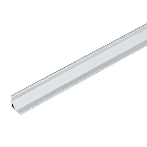 UFE-A06 SILVER 200 POLYBAG Накладной профиль для светодиодной ленты. анодированный алюминий. Длина 200 см. ТМ Uniel.