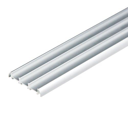 UFE-A08 SILVER 200 POLYBAG Накладной профиль для светодиодной ленты. анодированный алюминий. Длина 200 см. ТМ Uniel.