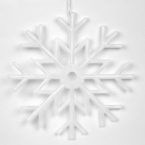 ULD-H4040-048-DTA MULTI IP20 SNOWFLAKE Фигура светодиодная Снежинка. 40х40см. Подвесная. 48 светодиодов. Красный. синий. белый свет. Провод прозрачный. TM Uniel.