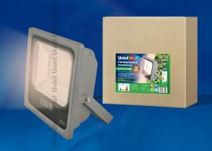 ULF-P40-100W-SPFR IP65 110-265В GREY Прожектор для растений светодиодный. Спектр для фотосинтеза. Цвет серый. TM Uniel.